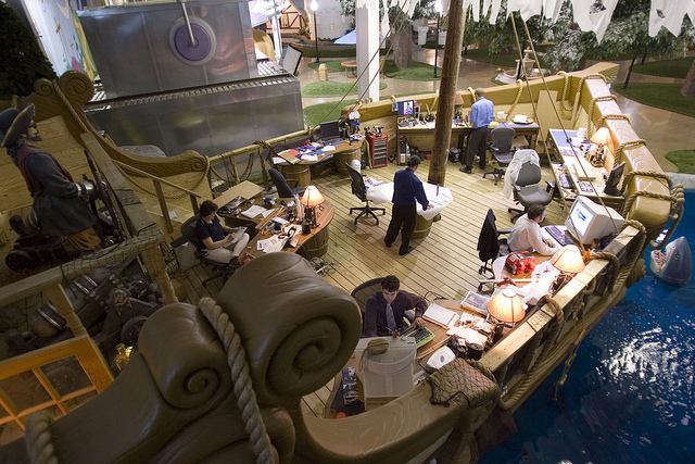 Inventionland office pirate ship - coolest offices